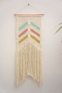 Woven wall hanging / Chevron Devon / tapestry / by Lepetitmoose