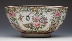 ANTIQUE CHINESE XIANFENG MARK FAMILLE ROSE BOWL19/20TH C.OSELLAME'S COLLECTION