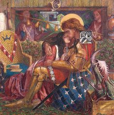 The Wedding of St. George and Princess Sabra by Dante Gabriel Rossetti (1861-1862)