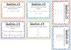 course CM1 évaluation diagnostique sous forme de course aux réponses.