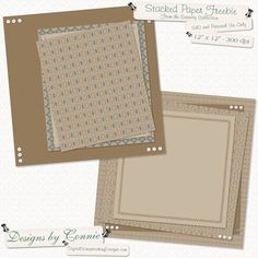 """Serenity"" stacked paper #freebie at DigitalScrapbookDesigns.com #digiscrap #digifree"