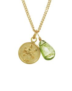 Leo Mini Coin Zodiac Necklace by JewelMint.com