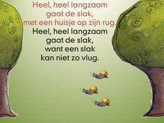 Lied in powerpoint, de slak kruipt heel langzaam door het beeld, het haasje gaat heel snel. Learn Dutch, Remember Quotes, Massage, Eric Carle, Animal Print Dresses, Back To The Future, Sensory Play, Finding Peace, Timeline