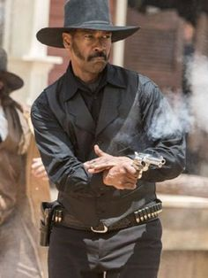 Denzel Washington The Magnificent Seven Chisolm Black Vest Cowboy Up, Cowboy Girl, Western Cowboy, Denzel Washington, Western Film, Western Movies, Western Art, Westerns, Old West