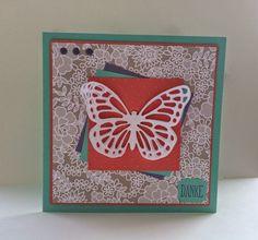 Stampin'Up! Big Shot - Perfect Polka Dots, Big Shot - Thinlits Formen Schmetterlinge, Spruch-Reif, Stampin'Up Designerpapier, Danke,