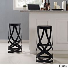 Positioned firmly atop the impossible, these Ribbon bar stools make it easy to go where you didn't think you could. Molded from reinforced strips of coated aluminum, the stool introduces just the right amount of complexity to your environment.