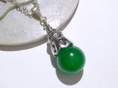Emerald Green Quartz, Goddess Globe, Metaphysical Jewelry, Yule Gift, Pagan Jewelry, Wiccan Jewelry, Gifts For Her, Christmas Jewelry, Reiki by MoonMajickStudio on Etsy