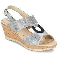Chaussures Femme Sandales et Nu-pieds Rondinaud REPPE Argenté / Noir