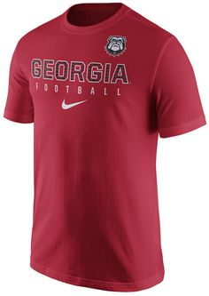 The Nike NCAA men's Practice T-shirt lets you move in every direction on the field or in the stands when cheering on the Georgia Bulldogs. In…