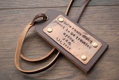 Personalized Leather Luggage Tags Custom Leather Tags by Rachiba