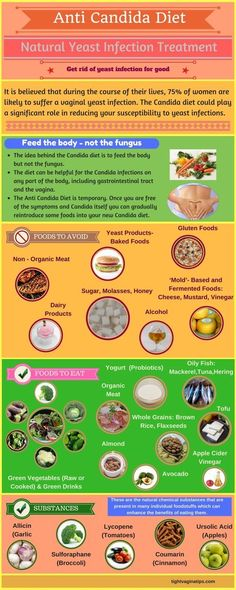 Get rid of yeast infection naturally! How to treat recurrent vaginal yeast infections? Natural substances that are deadly for Candida! how to get rid of yeast infection - candida diet infographic Anti Candida Diet, Candida Cleanse, Health Cleanse, Candida Symptoms, Health Diet, Candida Diet Recipes, Health Exercise, Candida Diet Food List, Systemic Candida