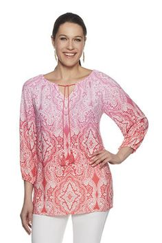 Shop our lively selection of Ruby Rd Missy tops. A variety of styles for all occasions including: sharkbite hem tops, bell sleeve tops, embellished tops, blouses, tees and shirts. Bell Sleeves, Bell Sleeve Top, Embellished Top, Tees, Shirts, Tunic Tops, Blouse, Shopping, Women