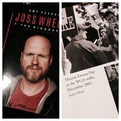 Check it out!!!!!!!!!!! The new #JossWhedon biography is out and my friend Ivana Olson has 2 photos in the book!!!