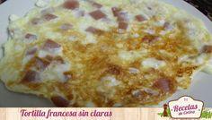 Tortilla francesa sin claras, genial para reducir el colesterol -  Si estáis buscando bajar el colesterol, aquí tenéis una receta saludable en la que suprimimos las yemas de huevo en una tortillafrancesa. Las tortillas francesas o las de patatas son riquísimas, sobre todo si la acompañamos de pimiento, cebolla, york, etc..pero la yema es la que nos sube... - http://www.lasrecetascocina.com/2013/08/28/tortilla-francesa-sin-claras-genial-para-reducir-el-colesterol/