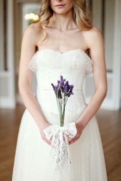 Prettiest polka dot wedding dress, photo by @Dasha Caffrey