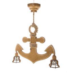 Nautical Chandelier, Ceiling Chandelier, Wooden Ceilings, Decorative Bells, Sconces, Home Decor, Wood Ceilings, Chandeliers, Decoration Home