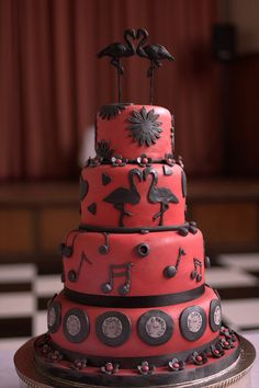 Rockabilly cake - ok this one is really for Mom and Dad, but it think it's adorable