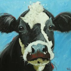 Drunken Cows - Whimsical Fine Art by Roz