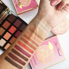 Too Faced released Peaches & Cream exclusively at Sephora! The collection is actually huge so check it out: it features Sweetie Pie Radiant Matte Bronzers($30), a Peach Blur Translucent Smoothing Finishing Powder($30),aPeach Perfect Mattifying Loose Setting Powder ($32), aPrimed & Peachy Cooling Matte Perfecting Primer ($32),12 shades of Peach Perfect Comfort Matte Foundation ($36), aPeach Mist Mattifying Setting Spray ($32), aBronzed Peach Bronzer ($30), aPeach Frost Highlighter…