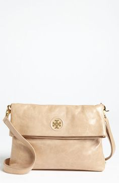 Oooh...just the right size.  Have to try this one on.Tory Burch 'Dena' Foldover Crossbody Bag available at #Nordstrom