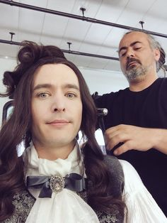 """""""Versailles"""" (Behind The Scenes) Alexander Vlahos as Philippe (Duke of Orléans) Versailles Bbc, Versailles Tv Series, Louis Xiv, George Blagden, Bbc Tv Shows, Now And Forever, King Queen, Actors & Actresses, Beautiful Men"""