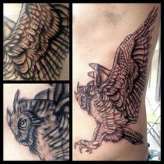 Owl tattoo by aireelle on deviantart owl tattoo on ribs. Sleeve Tattoos For Women, Tattoos For Guys, Cool Tattoos, Awesome Tattoos, Owl Tattoo Design, Tattoo Designs, Black Tattoos, Tribal Tattoos, Thigh Tat
