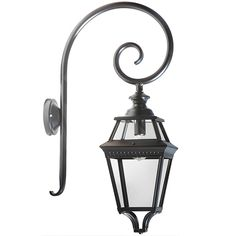 Large Wall Lantern Place des Vosges 3 with Crozier by Roger Pradier