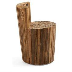 Dexter Solid Teak Timber Accent Stool