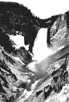"What is Geography?  Geography is Art to some people  Here is one of my favorite photos of geography  ""Yellowstone National Park Falls""  Ansel Adams Photography   Government Archives  How does the interaction of the elements of the environment impact on the environment? The waterfall carves a path through the mountains bringing melting ice through the land below."