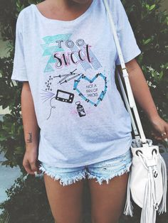 Too Sweet Type 1 Diabetic Top by thepastelfox on Etsy