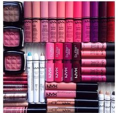 Beauty Plus Salon carries hundreds of products from NYX. Matte lipstick, soft matte lip cream and all types of lipsticks and makeup. Makeup Goals, Love Makeup, Makeup Tips, Makeup Stuff, Too Faced, All Things Beauty, Beauty Make Up, Revlon, Maybelline