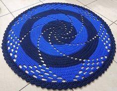 Коврик спираль крючком
