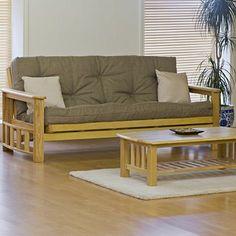 Vegas Futon,  Quality hardwood 3 seater futon sofa bed  www.futons-direct.co.uk