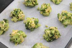 bolinhos de brócolis assados