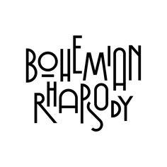 My interpretation of Bohemian Rhapsody. Letras Queen, Bohemian Font, Promo Flyer, Queens Wallpaper, Queen Freddie Mercury, Music Logo, Queen Band, Aesthetic Stickers, Photoshop