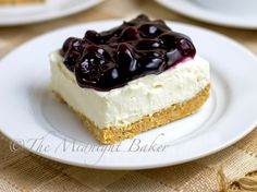 My boys ask for this dessert OFTEN!!! :) Family Favorite!                                   (No-Bake Blueberry Cheesecake)