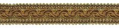 "9 Yard Value Pack - BROWN GOLD Baroque Collection Gimp Braid 1-1/4"" Style# 0125BG Color: GOLDEN CHESTNUT - 5207 (27 Ft / 8 Meters)"