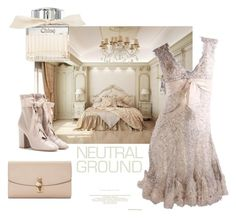 """Neutral Ground"" by lavalu-1 ❤ liked on Polyvore featuring Elie Saab, Valentino, Dolce&Gabbana, Chloé and neutrals"