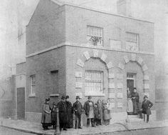 Name: Bethnal Green Watch House, Wood Close in 1890 Built 1826 Victorian Life, Victorian London, Vintage London, Old London, London Pictures, London Photos, History Of Photography, Street Photography, St Matthews Church