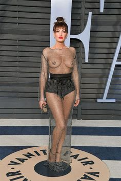 "See all the ""naked dressed"" celebrities have worn down the red carpet."