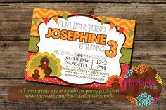 Little Turkey Birthday Invitation Pumpkin by InvitasticInvites, $10.00