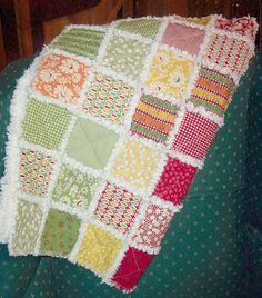 Wee Play rag quilt by ktraver8, via Flickr