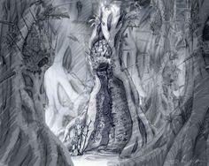 Haven concept art from Myst IV: Revelation
