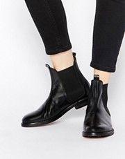 Черные кожаные ботильоны челси Hudson London Sophie