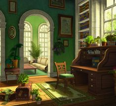 Concept Art House Scenery 41 Ideas For 2019 Environment Concept Art, Environment Design, Casa Anime, Muebles Sims 4 Cc, Sims 4 House Design, Sims House Plans, Casas The Sims 4, Sims Building, Sims 4 Build