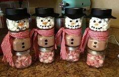 Weihnachtsgeschenke selber machen gewürze schneemann