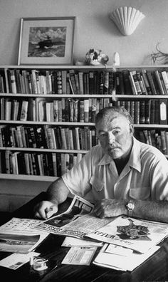"""What may not be so well known about Papa Hemingway was his own voracious reading appetite. He once said, """"I'm always reading books -- as many as there are."""""""