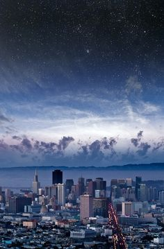 Stars Over San Francisco by Nathan Spotts