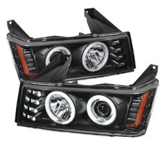 ( Spyder ) Chevy Colorado / GMC Canyon Projector Headlights - Halogen Model Only ( Not Compatible With Xenon/HID Model ) - CCFL Halo - Black - High 9005 (Not Included) - Low (Included) timely subsistence Chevrolet Colorado 2005, Black Porsche, Gmc Canyon, Chevrolet Tahoe, Chevrolet Auto, Projector Headlights, Unique Cars, Chevy Trucks, Chevy Pickups