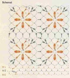 PATRONES DE POLERAS PARA TEJER A CROCHET CON CUADROS ~ TODO PATRONES CROCHET GRATIS PASO A PASO ESQUEMA Y GRAFICOS Crochet Stitches Chart, Crochet Doily Diagram, Freeform Crochet, Crochet Granny, Crochet Motif, Crochet Doilies, Knit Crochet, Crochet Patterns, Tunisian Crochet